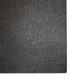 vidaXL dørmåtte coir 17 mm 100 x 100 cm sort