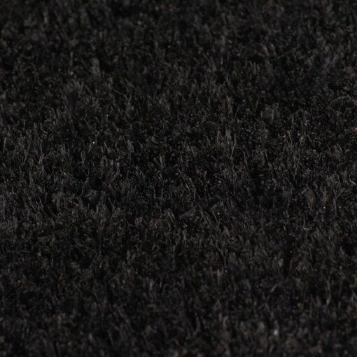 vidaXL dørmåtte coir 17 mm 100 x 200 cm sort