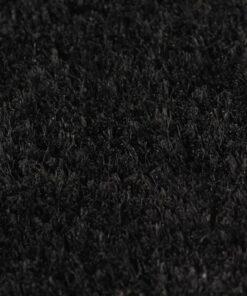 vidaXL dørmåtte coir 17 mm 190 x 200 cm sort
