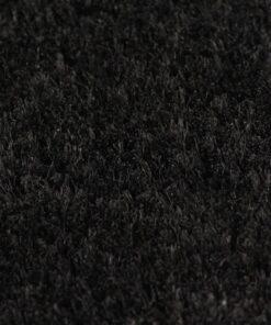 vidaXL dørmåtte coir 24 mm 80 x 100 cm sort