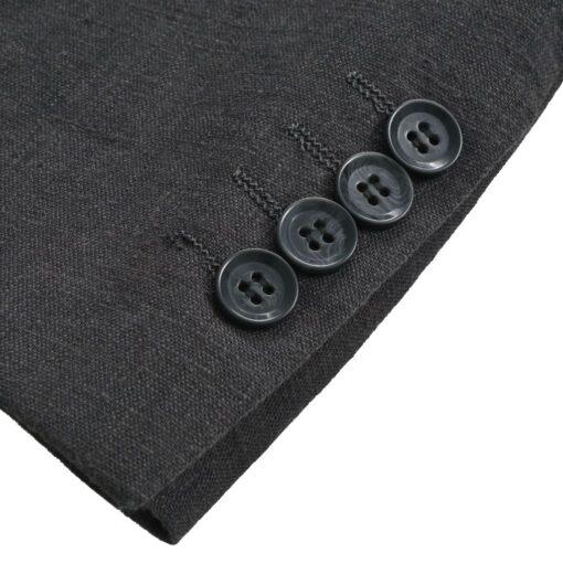 vidaXL jakkesæt til herrer i 2 dele lærred størrelse 46 mørkegrå