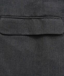 vidaXL jakkesæt til herrer i 2 dele lærred størrelse 52 mørkegrå