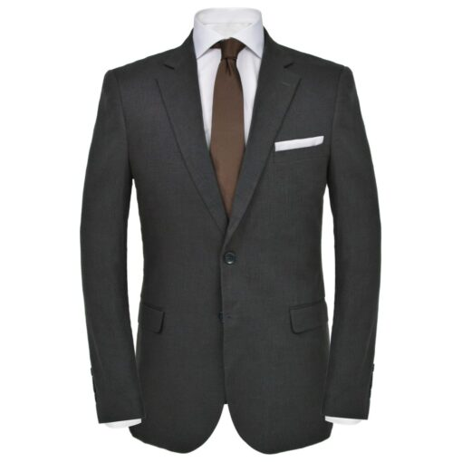 vidaXL jakkesæt til herrer i 2 dele lærred størrelse 54 mørkegrå