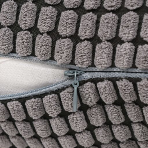 vidaXL pudesæt 2 stk. velour 45 x 45 cm grå