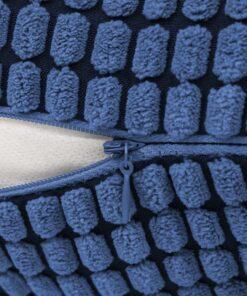 vidaXL pudesæt 2 stk. velour 45 x 45 cm blå