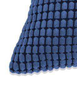 vidaXL pudesæt 2 stk. velour 60 x 60 cm blå
