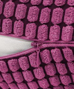 vidaXL pudesæt 2 stk. velour 60 x 60 cm lyserød