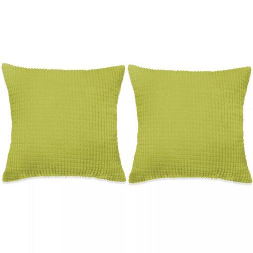 vidaXL pudesæt 2 stk. velour 45 x 45 cm grøn