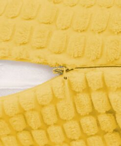 vidaXL pudesæt 2 stk. velour 45 x 45 cm gul