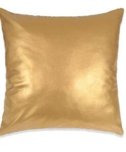 vidaXL pudebetræk 2 stk. PU 45 x 45 cm guldfarvet