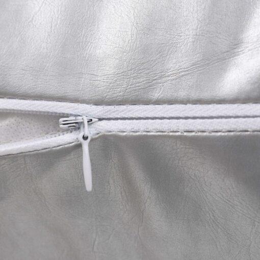 vidaXL pudesæt 2 stk. PU 60 x 60 cm sølvfarvet