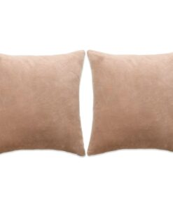 vidaXL pudesæt 2 stk. velour 60 x 60 cm beige