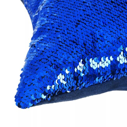 vidaXL pudesæt med pailletter 2 stk. 60 x 60 cm blå og sølvfarvet