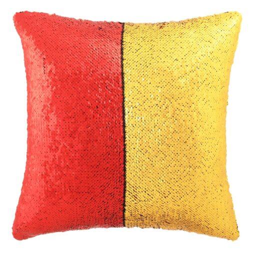 vidaXL pudesæt med pailletter 2 stk. 45 x 45 cm rød og guldfarvet
