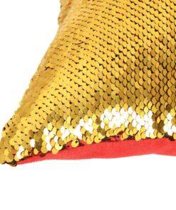 vidaXL pudesæt med pailletter 2 stk. 60 x 60 cm rød og guldfarvet