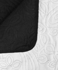 vidaXL dobbeltsidet quiltet sengetæppe 170 x 210 cm sort og hvid