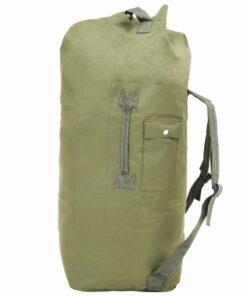 vidaXL duffeltaske i militærstil 85 l olivengrøn