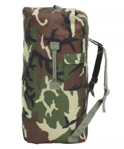 vidaXL duffeltaske i militærstil 85 l camouflage