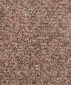 vidaXL 15 stk. selvklæbende trappemåtter tuftet 56 x 20 x 4 cm brun
