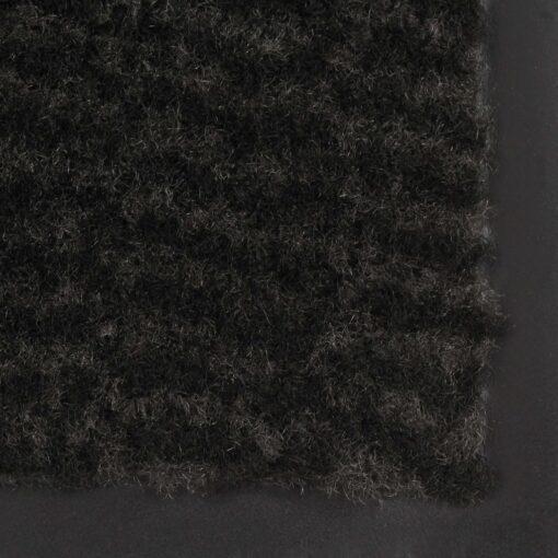 vidaXL måtte med støvkontrol rektangulær tuftet 80 x 120 cm sort