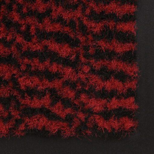 vidaXL måtte med støvkontrol rektangulær tuftet 80 x 120 cm rød