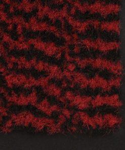 vidaXL måtte med støvkontrol rektangulær tuftet 120 x 180 cm rød