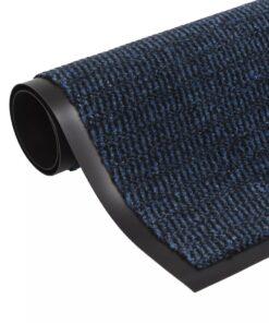 vidaXL måtte med støvkontrol rektangulær tuftet 120 x 180 cm blå