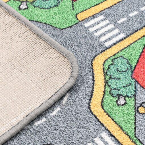 vidaXL legetæppe loop-pile 80 x 120 cm vejmønster