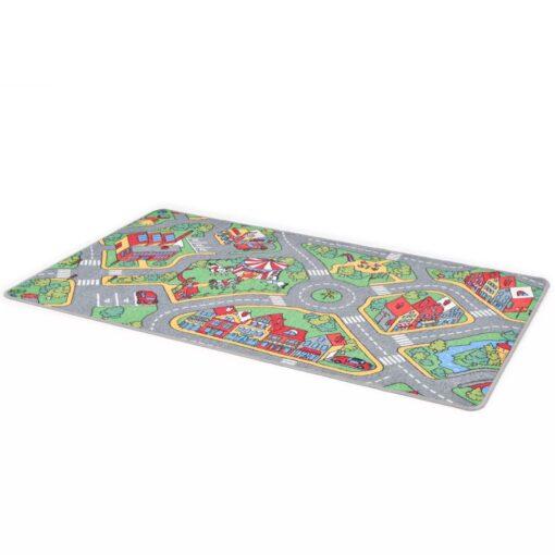 vidaXL legetæppe loop-pile 90 x 200 cm byveje