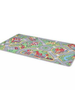 vidaXL legetæppe loop-pile 133 x 190 cm byveje