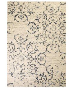 vidaXL moderne tæppe blomsterdesign 120 x 170 cm beige/blå