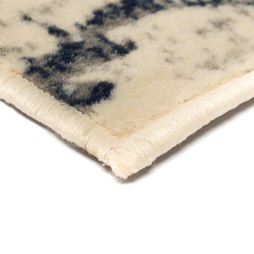 vidaXL moderne tæppe blomsterdesign 140 x 200 cm beige/blå