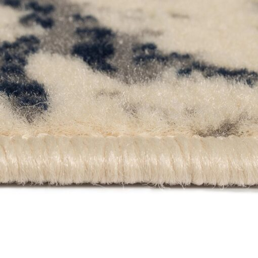 vidaXL moderne tæppe blomsterdesign 160 x 230 cm beige/blå