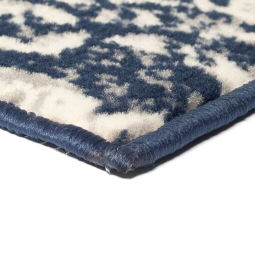 vidaXL moderne tæppe paisley-design 140 x 200 cm beige/blå