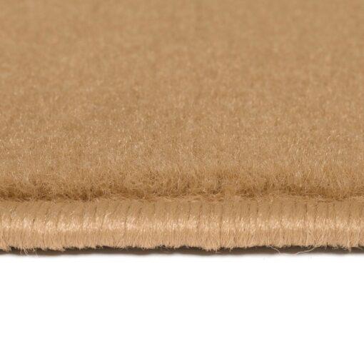 vidaXL moderne tæppe cirkeldesign 140 x 200 cm brun