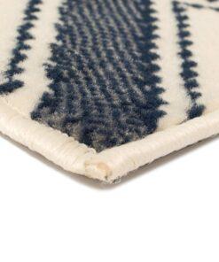vidaXL moderne tæppe zigzag-design 80 x 150 cm brun/sort/blå