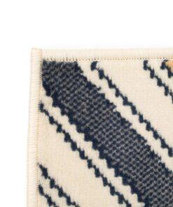 vidaXL moderne tæppe zigzag-design 120 x 170 cm brun/sort/blå