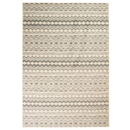 vidaXL moderne tæppe traditionelt design 140 x 200 cm beige/grå