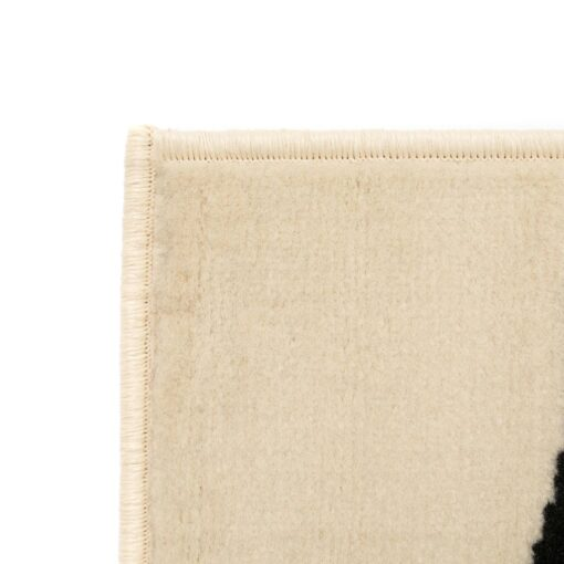 vidaXL moderne tæppe zebradesign 80 x 150 cm beige/sort