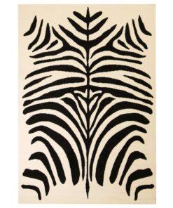 vidaXL moderne tæppe zebradesign 160 x 230 cm beige/sort