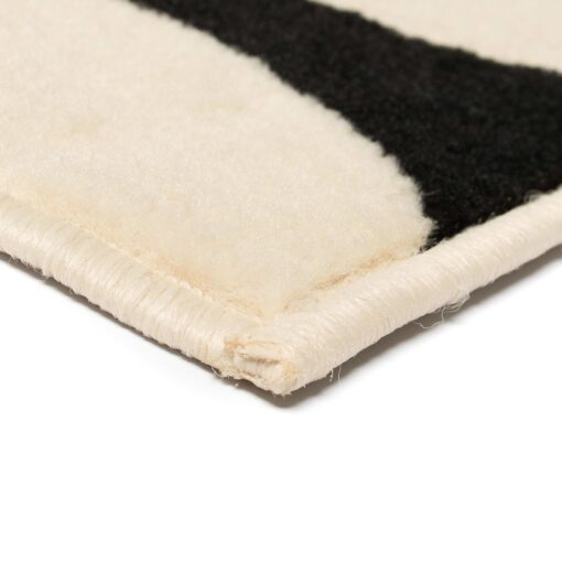 vidaXL moderne tæppe geometrisk design 80 x 150 cm beige/sort