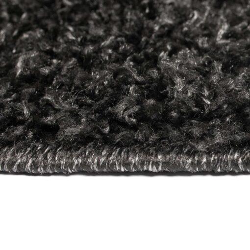 vidaXL shaggy tæppe 140 x 200 cm antracitgrå