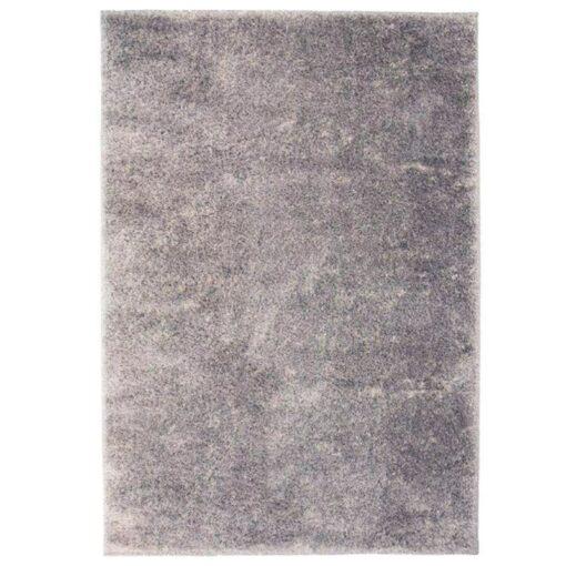 vidaXL shaggy tæppe 80 x 150 cm grå