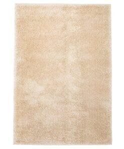 vidaXL shaggy tæppe 120 x 170 cm beige