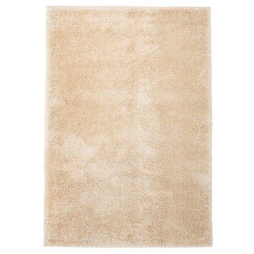 vidaXL shaggy tæppe 140 x 200 cm beige