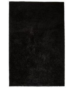 vidaXL shaggy tæppe 80 x 150 cm sort