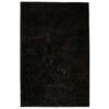 vidaXL shaggy tæppe 120 x 170 cm sort