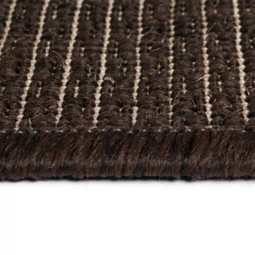 vidaXL tæppe sisallook indendørs/udendørs 80 x 150 cm brun