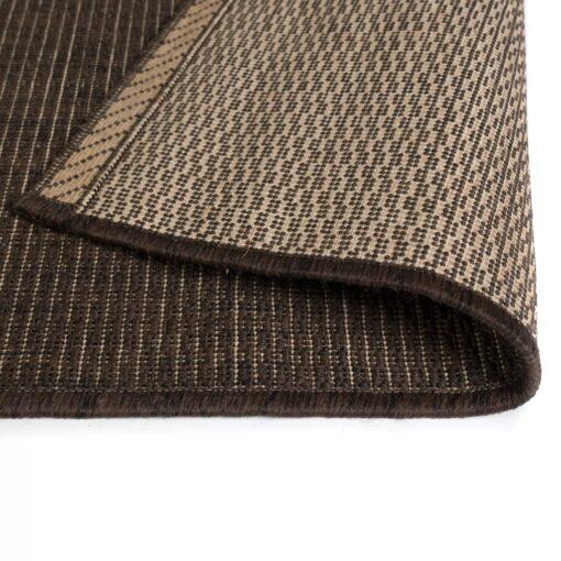 vidaXL tæppe sisallook indendørs/udendørs 140 x 200 cm brun
