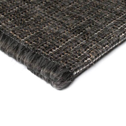 vidaXL tæppe sisallook indendørs/udendørs 140 x 200 cm mørkegrå